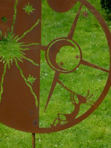 Gartenstecker Astronom - Sonne Mond & Sterne rusty-passion ...