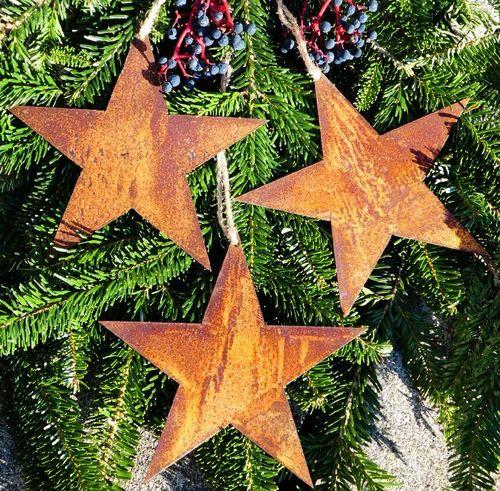 3 Sterne Im Set Anhanger Christbaumschmuck Rusty Passion Edelrost
