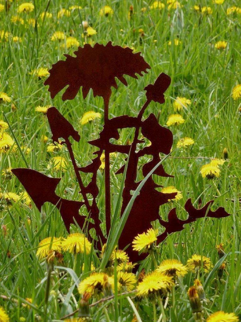 Pusteblume Löwenzahn Gartenstecker rusty-passion