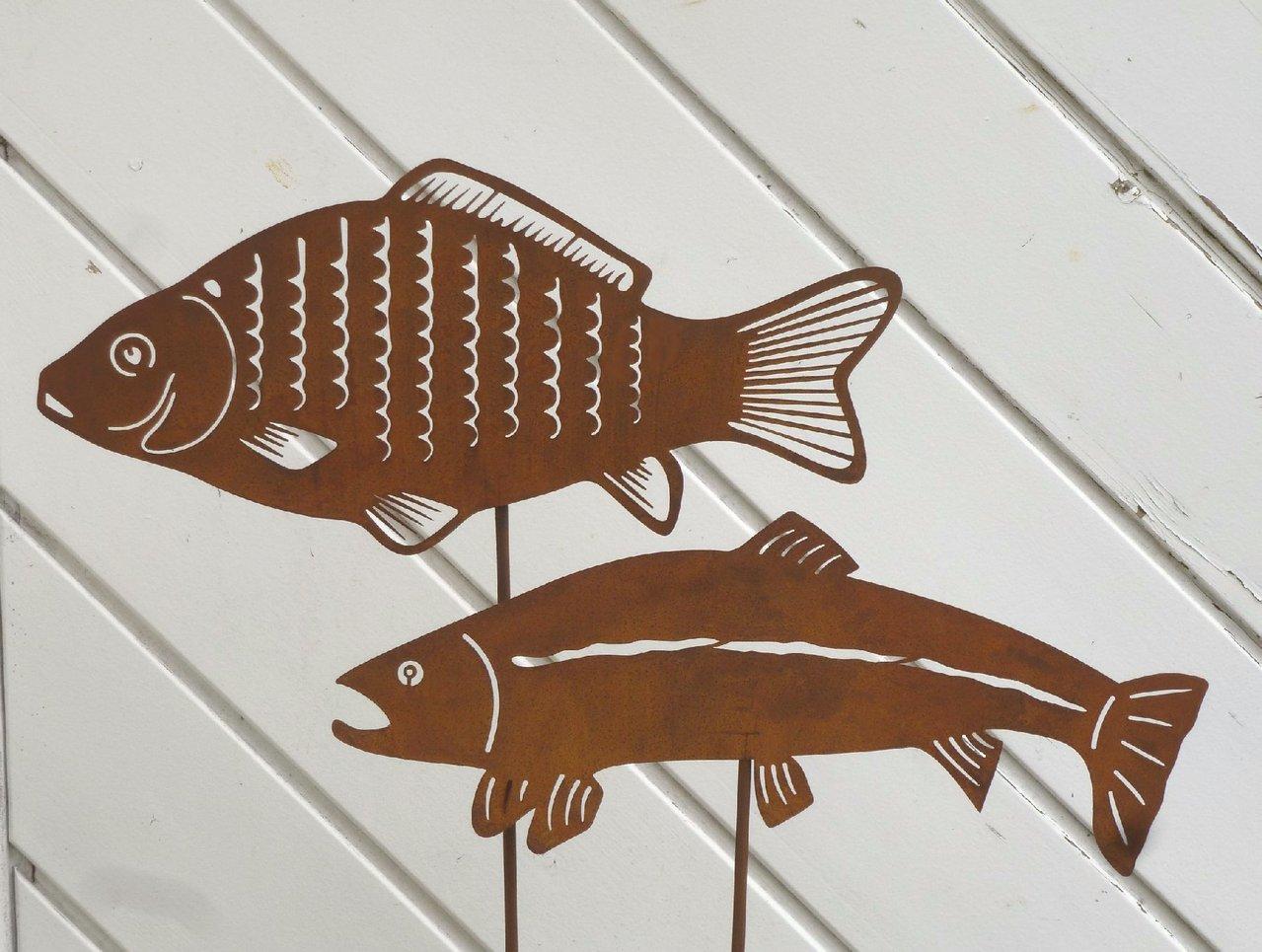 Möbelgeschäfte Essen gartenstecker fisch karpfen forelle edelrost